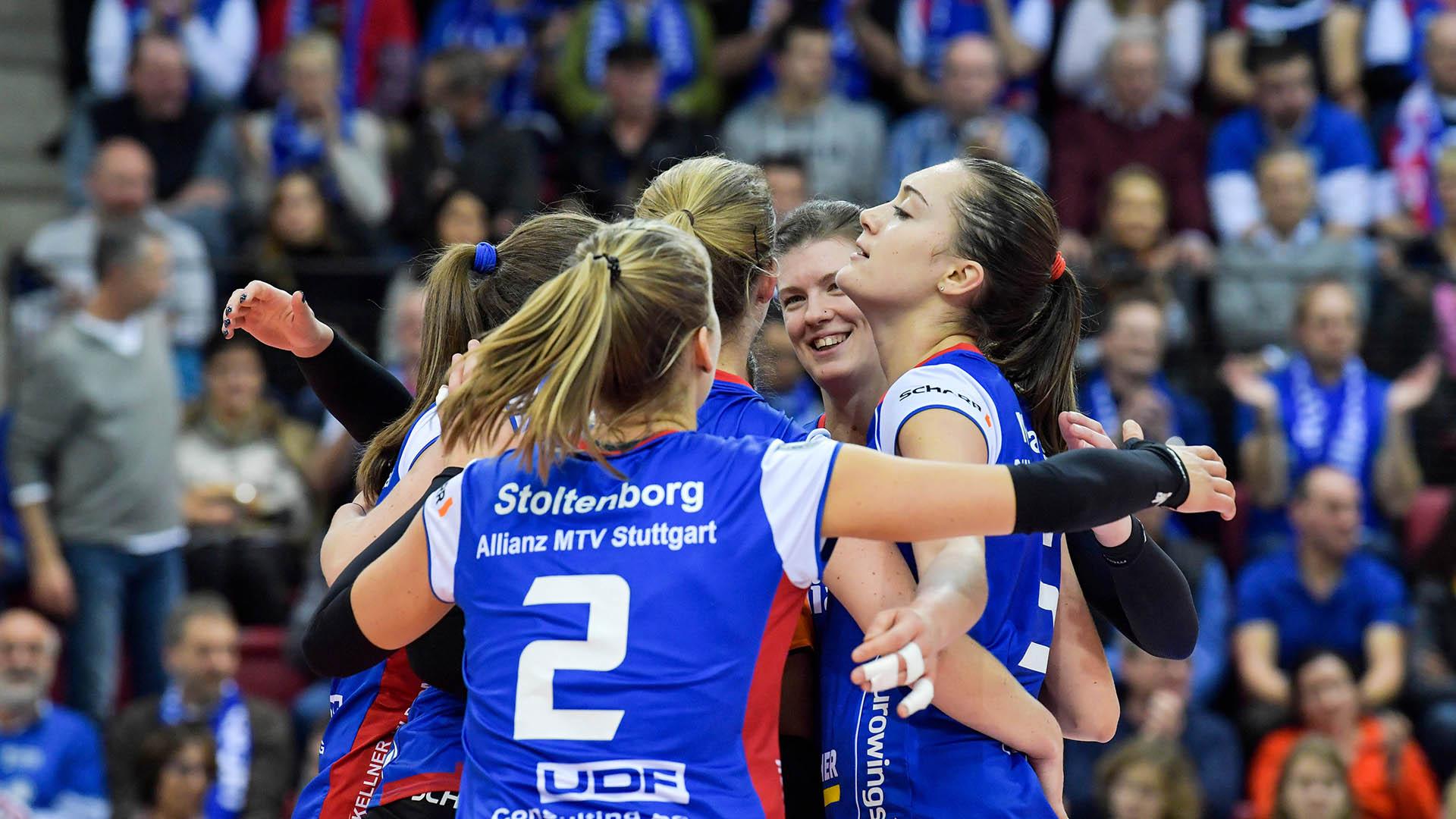 Stuttgarts Volleyballerinnen zeigen Kampfgeist
